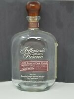 Jefferson's Reserve Groth Reserve Cask Bourbon Whiskey Empty Bottle 750ml 1/5th