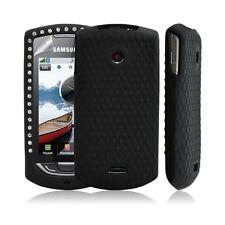 Silicone pour samsung S5620 Player Star 2 diamant couleur noir + film protection