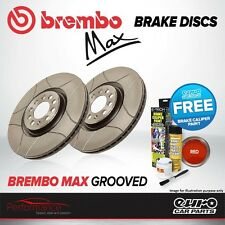 Brembo Max Rear Solid High Carbon Grooved Brake Disc Pair Discs x2 08.7765.75