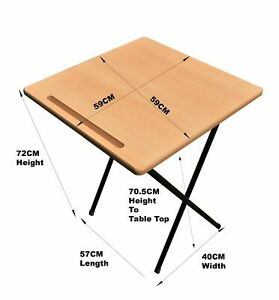 Exam Table Folding Desk Class Room Computer Study Laptop Home work Table grove