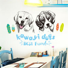 Cartoon Drawing Dog Room Home Decor Removable Wall Sticker Decal Decoration