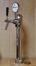 Beer Tap Faucet Draft Single Lines Chrome Tower Keg Kegerator Logo Bitburger