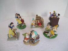 """6 Disney """"Lil Classics"""" Pvc Figures Collection Snow White & Seven Dwarves"""