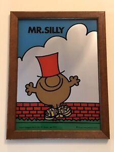 Vintage Original Framed Mr Men Mr Silly Mirror Roger Hargreaves Aspell Saggers