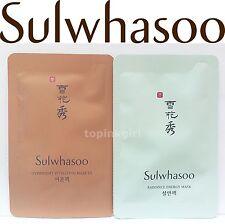 Sulwhasoo Overnight Vitalizing Mask EX 5pcs + Radiance Energy Mask 5pcs,Sleeping