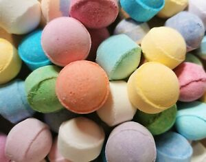 Mini Scented Bath Bombs Marbles Chill Pills Fizzies Fizzes Gift Wedding Favours