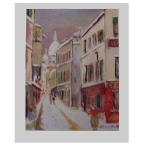 Maurice Utrillo - La Rue St-Rustique (11 x 9 inches)