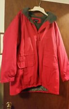 Lands End Women's Winter Coat, Red with Hood, Size XL (18-20)
