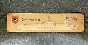 GERMAN WW2 UBOAT UNTERSEEBOOT 20 X 5 // VINTAGE STYLE SIGN  // FREE SHIPPING