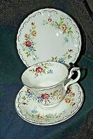 Royal Albert  JUBILEE ROSE Trio Cup Saucer Plate  Bone China ENGLAND