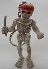 Rubber Keychain Keyring Skeleton Knife Pirate Skull Harley Goth