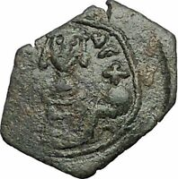 Manuel I  Comnenus 1143AD Ancient Byzantine Coin Labarum Cross on 3 steps i56189