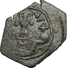 Manuel I Comnenus 1143Ad Ancient Byzantine Coin Labarum Cross on 3 steps i56189
