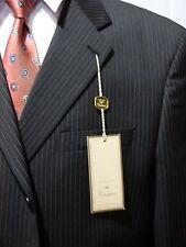 Men's Suit, Peerless Couture, Dark Gray Stripe, 48R, NWT