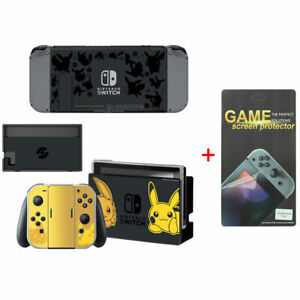 Pokemon Vinyl Skin Sticker Full Set for Nintendo Switch with Screen Protector