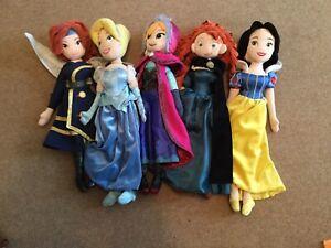 Disney Princess Plush Dolls Bundle X 5