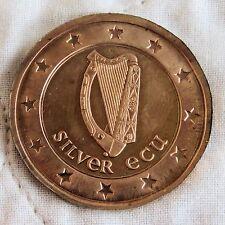 NORTHERN IRELAND 1992 HARP DIE TRIAL UNIFACE COPPER PROOF PATTERN ECU