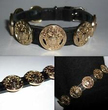 Versace tous Gold Medusa Head Designer Puppy/Small Dog/Cat Collar-Brand New Bling