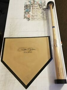 Pete Rose Hit King Autograph Baseball Bat And Home Plate