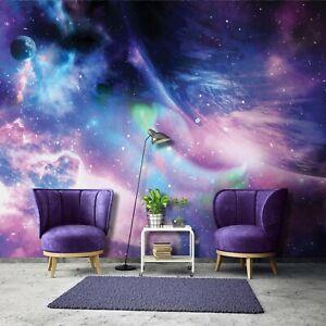 Vlies Fototapete Galaxy Weltraum Kosmos Sterne Universum Kinderzimmer Weltall 56