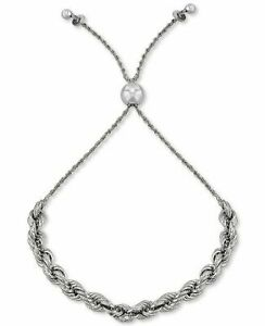 GIANI BERNINI rope bolo bracelet - STERLING SILVER - New w tags