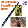 40/60/80/100mm x 800mm Dual Blade Auger Bit Drill Earth Petrol Post Hole Digger