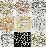 50-500X Open Jump Rings Split Findings DIY Jewelry Making Craft Round Oval Acces