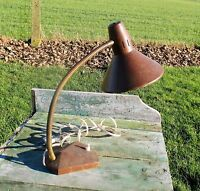 Vintage Bauhaus Modernist Table Desk Lamp Mid Century Adjustable