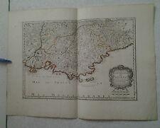 GRAVURE ANCIENNE CARTE COMTE & GOUVERNEMENT DE  PROVENCE SANSON D'ABBEVILLE 1652