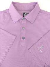 FootJoy L Large Golf Performance Polo Shirt Lavender Purple Aviara Resort Logo