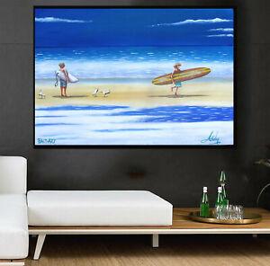 Art Painting Beach canvas Australia surf surfing seascape surfers paradise
