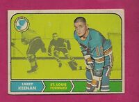 1968-69 OPC # 115 BLUES LARRY KEENAN VG CARD  (INV# 9988)