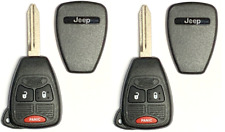 X2 Jeep 3 Button Remote Head Key OHT692427AA Premium Quality USA Seller