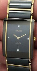 Rado JubileQuartz Unisex Diamond Dial Watch 160.0282.3 High Tech Ceramic Links