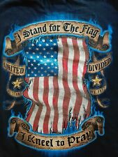 Stand for the Flag Kneel for the Cross  Adult Short Sleeve Crewneck Tee XL Black