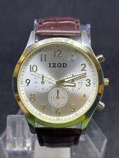 IZOD Mens Izo8221 Two Tone Brown Strap Watch #40