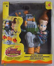 Nib Mattel Jimmy Neutron R/C Remote Control Robo Walker, 2002