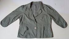 MA17 Women EX Dorothy Perkins Jacket Khaki Green Cotton Plus Size Jacket Size 22