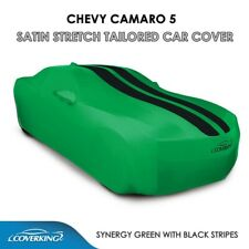 Synergy Green Coverking Satin Stretch Custom Car Covers for Chevy Camaro 5