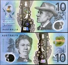 AUSTRALIA 10 DOLLARS 2017 P NEW DESIGN FEATURE CLEAR POLYMER UNC