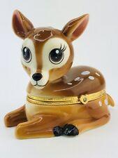 Limoges Turgot Deer Porcelain Music Box Bradford Exchange Grand Daughter Dear