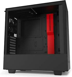 NZXT H510 Tempered Glass Mid Tower Case - Black/Red Mid-Tower Mini-ITX