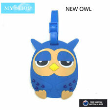 NEW BLUE LOVELY OWL NAME TAG, ID LABLE FOR LUGGAGE, SUITCASE, SCHOOL BAG