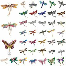 Fashion Crystal Rhinestone Insect Dragonfly Animal Brooch Pin Women Gift Jewelry