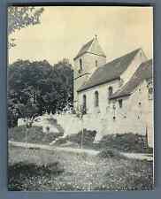France, Saint Cosme (Haut Rhin) Vintage silver print. Alsace Tirage argentique