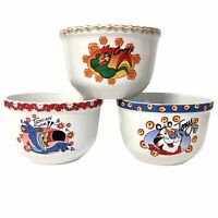 Kelloggs Cereal Bowls 2004 Lot Of 3 Houston Harvest