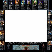 Mortal Kombat 4 Arcade Moves List Bezel Panel Artwork Art CPO Midway MK4 Midway