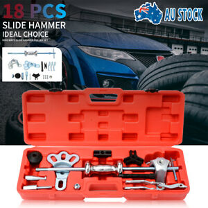 Slide Hammer Dent Puller Tool Kit Wrench Adapter Axle Bearing Hub Set 19PCS red