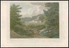 1814 SURREY - Original Antique Print ALBURY PARK Guildford