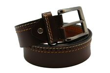 100% Genuine Leather Formal Waist Belt for men with Single Prong Buckle Brown